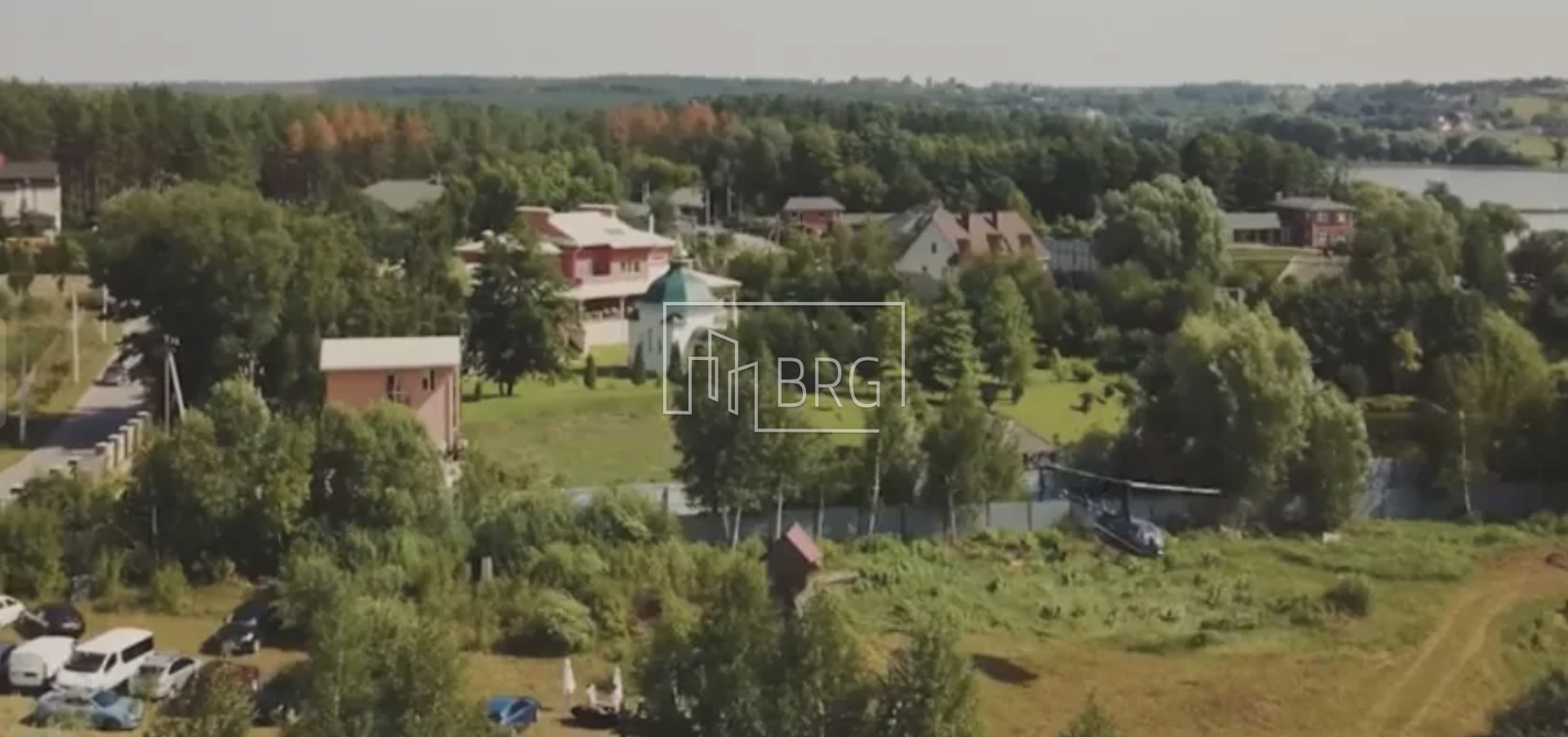 Plot with two lakes in the village of Klepcha. Kiev region