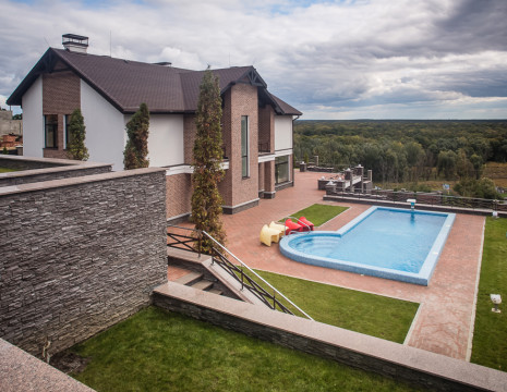 Mansion 790m with panoramic views in the Foresters. Kiev region